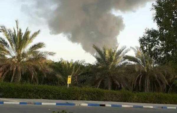 آتش سوزی انبار فرآورده های نفتی در بندر شهید رجایی