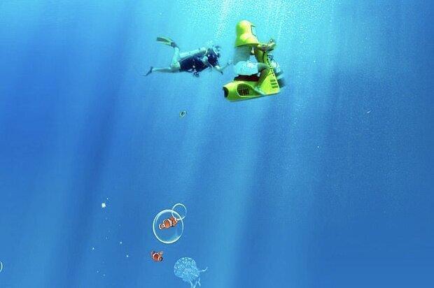 این موتورسیکلت یک زیردریایی شخصی است!