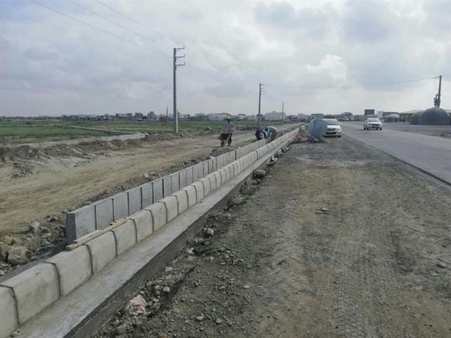 ساخت جاده سلامت شهر ساحلی بندرترکمن در استان گلستان