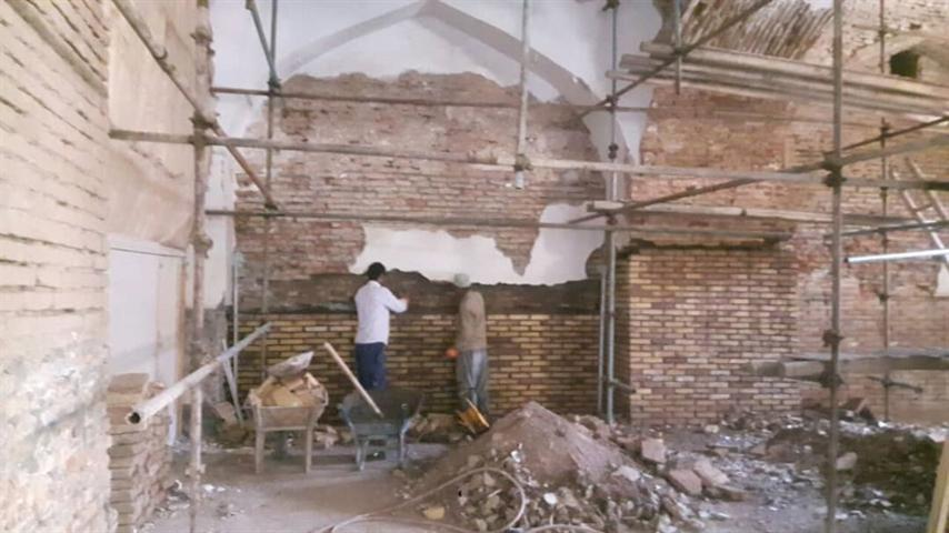شبستان شرقی مسجد جامع نیشابور مرمت شد