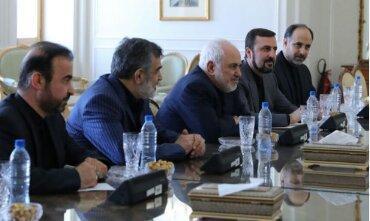 مدیر آژانس با ظریف دیدار کرد، عکس