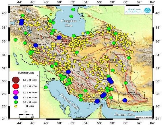 رخداد بیش از 815 زمین لرزه در شهریور ماه
