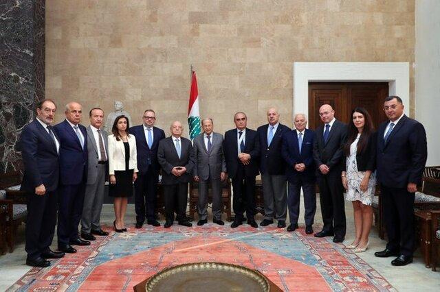 اظهارات میشل عون درباره دولت جدید لبنان