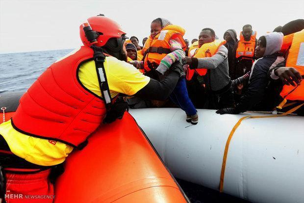 3 هزار مهاجر در دریای مدیترانه نجات داده شدند