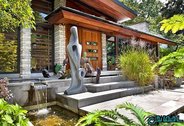 تزئین محوطه باغ با مجسمه های زیبا