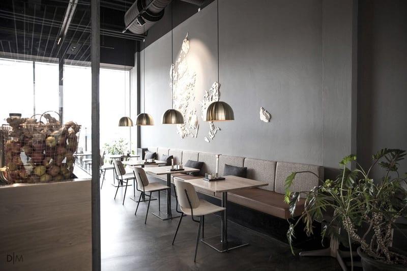 طراحی معماری رستوران غذاهای سالم