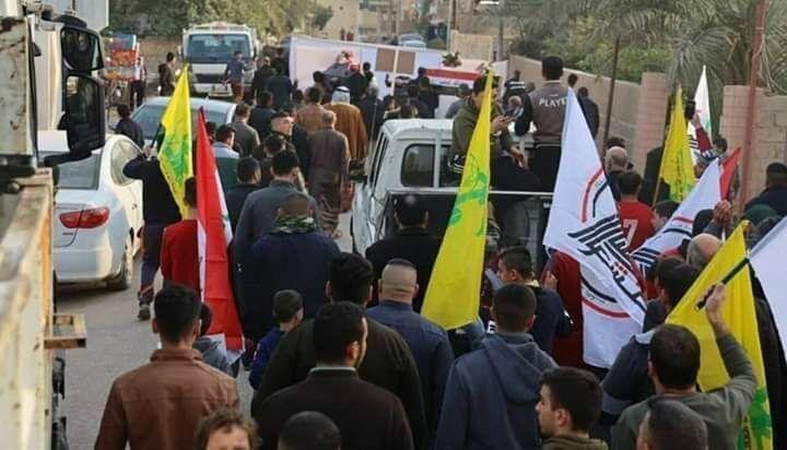 خبرنگاران معترضان میدان تحریر بغداد حمله داعش به الحشدالشعبی را محکوم کردند
