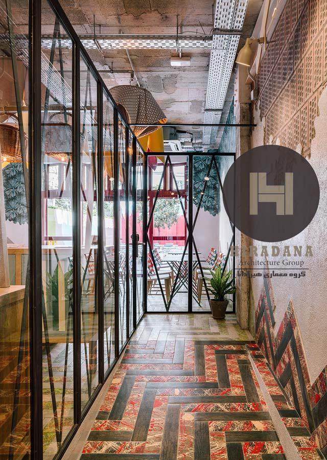 طراحی داخلی دفتر کلمنتینا در بارسلون اسپانیا