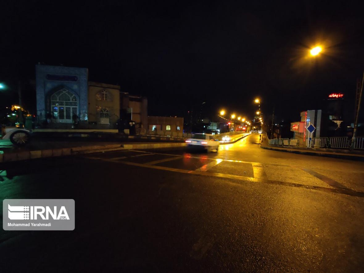 خبرنگاران خیابان های ارومیه در شب اول محدودیت های کرونایی خلوت شد