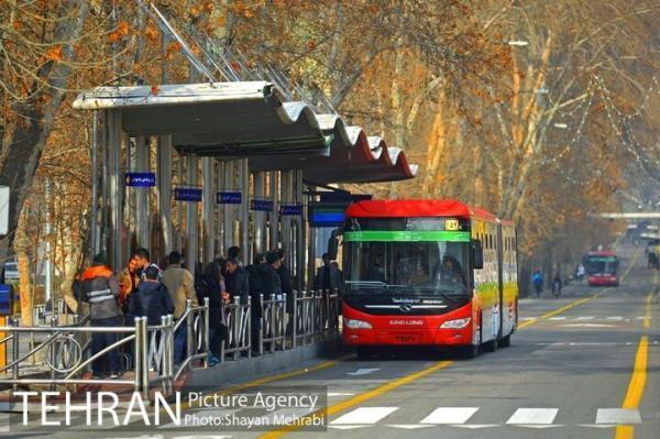 توقف مسافرگیری در 3 ایستگاه اتوبوس خط 7