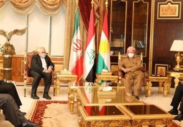 قدردانی مسعود بارزانی از مواضع ایران در خصوص امنیت عراق و اقلیم کردستان عراق