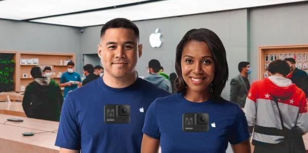 در اقدامی عجیب اپل برای پیشگیری از درزهای اطلاعاتی محصولاتش از کارکنانش خواسته که دوربین هایی روی لباس خود نصب نمایند!