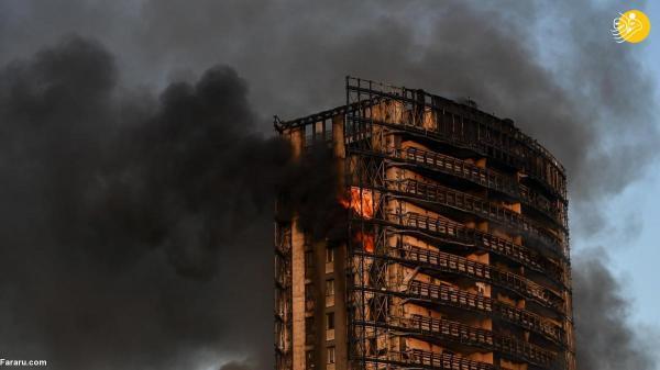 آتش سوزی در یک برج 20 طبقه در میلان ایتالیا